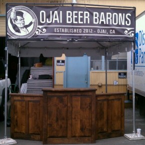 Our beer booth.