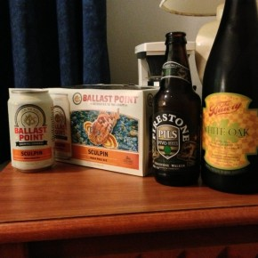 New Firestone, Sculpin in a can, and some Bruery